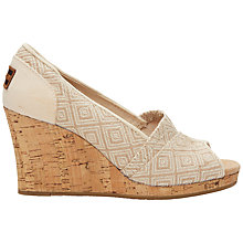 Buy TOMS Classic Woven Wedge Sandals, Natural Online at johnlewis.com
