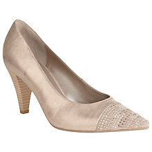 Buy Gabor Brax Leather Court Shoes, Gold Online at johnlewis.com