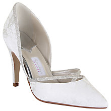 Buy Rainbow Couture Luisa Floral Print Glitter Trim Shoes, Ivory Online at johnlewis.com