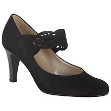 Buy Gabor Angelique Suede Mary-Jane Shoes, Black Online at johnlewis.com