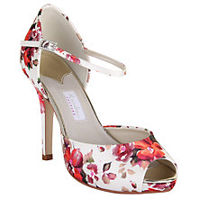 Buy Rainbow Couture Gabriella Floral Print Satin Peep Toe Shoes, Multi Online at johnlewis.com