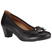 Buy Gabor Consort Leather Court Shoes, Black Online at johnlewis.com