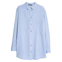 Buy Mango Twill Oversized Shirt, Medium Blue Online at johnlewis.com