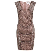 Buy Miss Selfridge Premium Collection Mink Fan Sequin Dress, Mink Pink Online at johnlewis.com