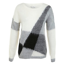 Buy Miss Selfridge Brushed Geo Jumper, Multi Online at johnlewis.com