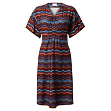 Buy East Olga Print Jersey Dress, Espresso Online at johnlewis.com