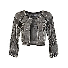 Buy Miss Selfridge Double Sequin Jacket, Silver Online at johnlewis.com