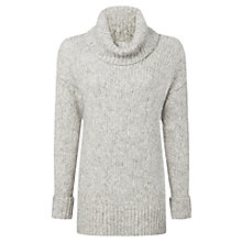 Buy Whistles Textured Oversized Roll Neck Jumper, Pale Grey Online at johnlewis.com