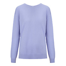 Buy Whistles Popperback Cashmere Jumper, Lilac Online at johnlewis.com