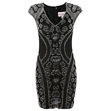 Buy Miss Selfridge Premium Collection Animal Bodycon Dress, Black Online at johnlewis.com