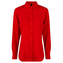 Buy Mango Flowy Shirt, Bright Red Online at johnlewis.com