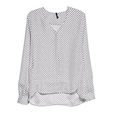 Buy Mango Tie Print Blouse, Natural White Online at johnlewis.com