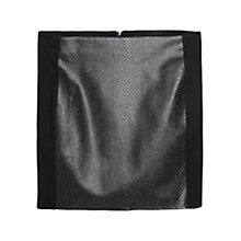 Buy Mango Snake Pattern Skirt, Black Online at johnlewis.com
