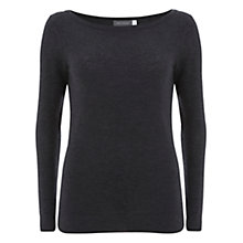 Buy Mint Velvet Skinny Knit Jumper, Charcoal Online at johnlewis.com