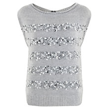 Buy Mint Velvet Textured Knit Tabard, Silver Online at johnlewis.com