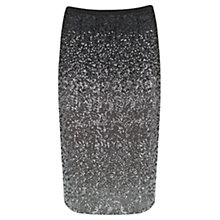 Buy Mint Velvet Sequin Pencil Skirt, Charcoal Online at johnlewis.com