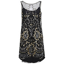 Buy Miss Selfridge Premium Collection Danielle Drop Back Dress, Black Online at johnlewis.com