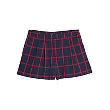 Buy Mango Check Shorts, Navy Online at johnlewis.com