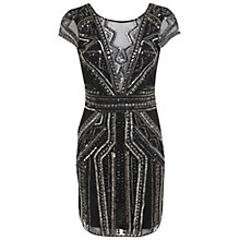 Buy Miss Selfridge Premium Collection Megan Bodycon Dress, Silver Online at johnlewis.com