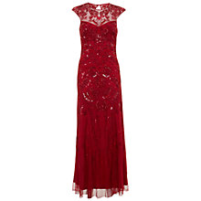 Buy Miss Selfridge Premium Collection Lily Maxi Dress, Red Online at johnlewis.com
