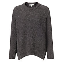 Buy Whistles Alpaca Boucle Zip Jumper, Grey Online at johnlewis.com