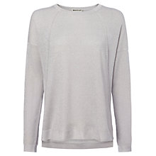 Buy Whistles Sophia Sparkle Knit Jumper, Silver Online at johnlewis.com