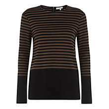 Buy Hobbs Iona Top, Black Choc Online at johnlewis.com