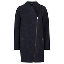 Buy Mango Cocoon Wool Blend Coat, Navy Online at johnlewis.com