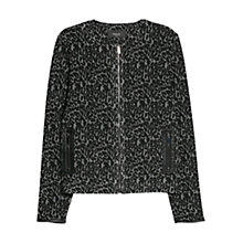 Buy Mango Leopard Pattern Jacket, Medium Grey Online at johnlewis.com