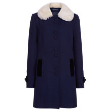 Buy Sugarhill Boutique Frances Coat, Navy/Cream Online at johnlewis.com