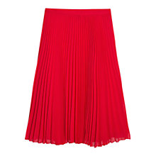 Buy Mango Pleated Midi Skirt, Bright Orange Online at johnlewis.com