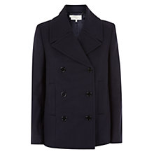 Buy Hobbs Ciara Peacoat, Navy Online at johnlewis.com