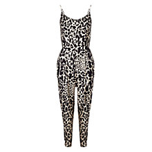 Buy Whistles Lenah Leopard Jumpsuit, Black Multi Online at johnlewis.com