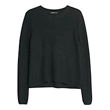 Buy Mango Chunky Knit Sweatshirt, Black Online at johnlewis.com