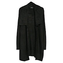 Buy Mango Long Wool-Blend Cardigan, Black Online at johnlewis.com