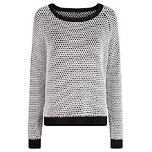 Buy Mango Monochrome Sweatshirt, Black Online at johnlewis.com