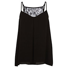 Buy Coast Bailey Cami Top, Black Online at johnlewis.com