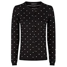 Buy Mango Embossed Polka-Dot Cardigan Online at johnlewis.com