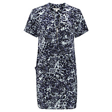 Buy Whistles Poppy Pearlised Print Dress, Blue/Multi Online at johnlewis.com