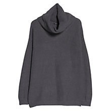 Buy Mango Cowl Neck Jumper, Medium Grey Online at johnlewis.com