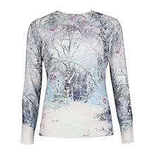 Buy Ted Baker Snow Blossom Print Jumper, Light Grey Online at johnlewis.com