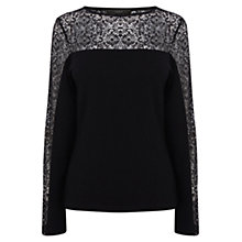 Buy Coast Vara Lace Top, Black Online at johnlewis.com