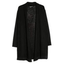 Buy Mango Long Wool Blend Cardigan, Black Online at johnlewis.com