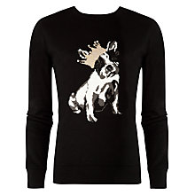 Buy Ted Baker Dog Illustrated Jumper, Black Online at johnlewis.com