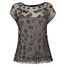 Buy Coast Kelsey Embellished Top, Black Online at johnlewis.com