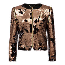 Buy Ted Baker Sequin Jacket, Bronze Online at johnlewis.com