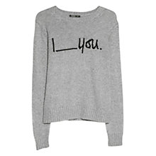Buy Mango Wool-Blend Jumper, Medium Grey Online at johnlewis.com