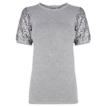 Buy Coast Idina Knit Top, Grey Online at johnlewis.com