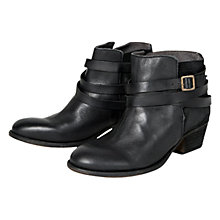 Buy H by Hudson Horrigan Buckle Leather Ankle Boots Online at johnlewis.com