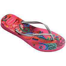 Buy Havaianas Tropical Rose Flip-Flops, Orchid Online at johnlewis.com